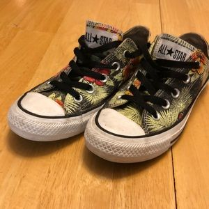 Converse All Star Lo Floral Women's 5 Green Red